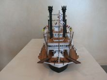 Ship modeler James Tuohy's Mississippi riverboat Robert E. Lee built from an Amati kit.