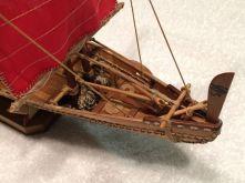 Amati's Nave Egizia, Egyptian Boat, built by Dan Drum of New Auburn, WI