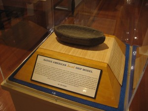A Native American ancient ship model. This pecked stone boat effigy was found in 2012 on San Clemente Island. It's at least 1000 years old.