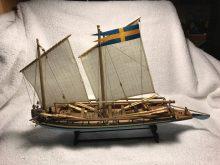 Amati's Swedish Gunboat by Kent Dutrieux of Richmond, CA.